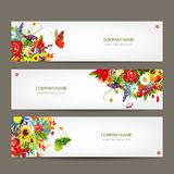 Floral style banners for your design Stock Photo