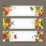 Floral style banners for your design Royalty Free Stock Photography