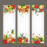 Floral style banners for your design Stock Image