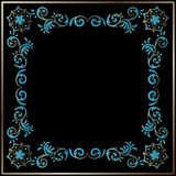 Floral style framed background Stock Image
