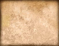 Floral style old paper textures background Royalty Free Stock Photo