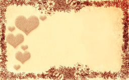 Love. Floral style old paper texture background Royalty Free Stock Photos