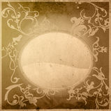 Floral style old paper textures frame Royalty Free Stock Images