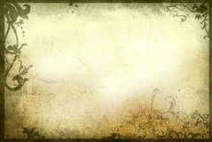 Floral style old paper textures frame Royalty Free Stock Photos
