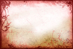 Floral style old paper textures frame Royalty Free Stock Photography