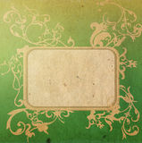 Floral style old paper textures frame Stock Photos