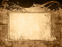 Floral style old paper textures frame Stock Image