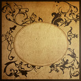 Floral style old paper textures frame Royalty Free Stock Image