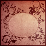 Floral style old paper textures frame Stock Photography
