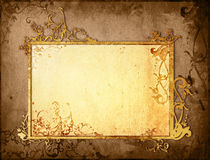 Floral style old paper textures frame Stock Images