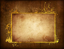 Floral style textures and backgrounds frame Stock Image