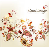 Floral stylish vector background with vintage Stock Image