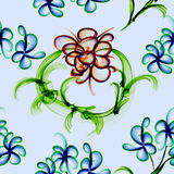 Floral Stylish Wallpaper, Seamless Pattern Royalty Free Stock Image