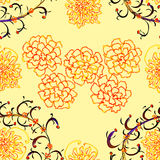 Floral Stylish Wallpaper, Seamless Pattern Royalty Free Stock Photography