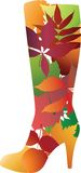 Floral stylized boot. Stock Images