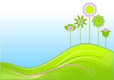 Floral summer background Stock Image