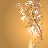 Floral Summer Background. Swirly Grunge Floral Spring Summer Background Royalty Free Stock Images