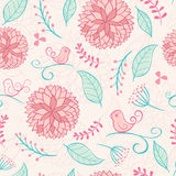 Floral summer background with birds Royalty Free Stock Photo