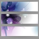 Floral Summer Banners. Royalty Free Stock Photography