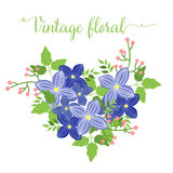 Floral summer bouquet, heart shape for your design Stock Photography