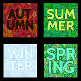Floral summer,spring and outumn background with text.Inscriptio Stock Images