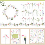 Floral summer templates. Stock Photo