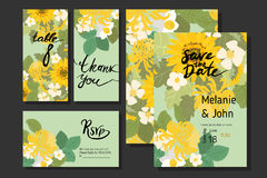 Floral sunflower, narcissus, strawberry flowers retro vintage background Stock Photography