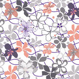 Floral in sunset. Floral in sunset pattern Design Stock Image