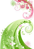 Floral swirl abstract vector illustration