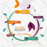 Floral swirl autumn infographic report, minimal Royalty Free Stock Image