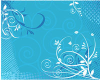 Floral swirl background Royalty Free Stock Images