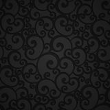 Floral Swirl Damask Seamless Pattern Stock Photo