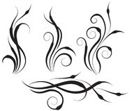 Floral swirl design elements Royalty Free Stock Photography