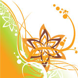 Floral swirl elements. Vector illustraition of retro abstract floral swirl elements Royalty Free Stock Photos
