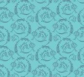 Floral swirls seamless pattern Stock Photo