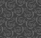 Floral swirls seamless pattern Stock Images
