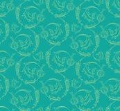 Floral swirls seamless pattern Stock Image