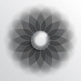 Floral symbol dark Royalty Free Stock Photography