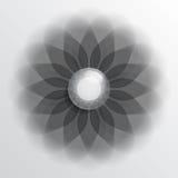 Floral symbol dark Royalty Free Stock Photography