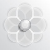 Floral symbol glass Stock Photo