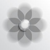 Floral symbol gray Royalty Free Stock Photography