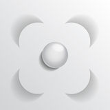 Floral symbol paper Royalty Free Stock Image