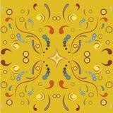 Floral symmetric ornament Stock Image