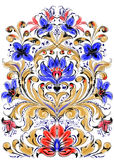 Floral symmetrical ornament Stock Photos