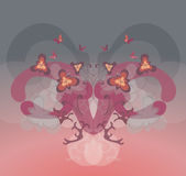Floral symmetry. A soft and pretty floral design Stock Images