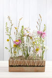 Floral table arrangement with gerbera flowers Stock Photos