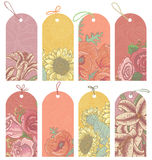 Floral tags Stock Photos