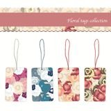 Floral tags collection Stock Images