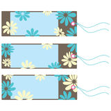 Floral tags set Royalty Free Stock Image
