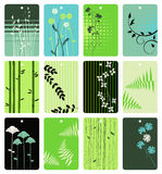Floral tags - vector set Stock Photography